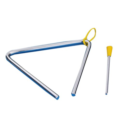 SODIAL (R)Jouet d'Enfants Instruments de musique a percussion Triangle d'alliage 4,9\