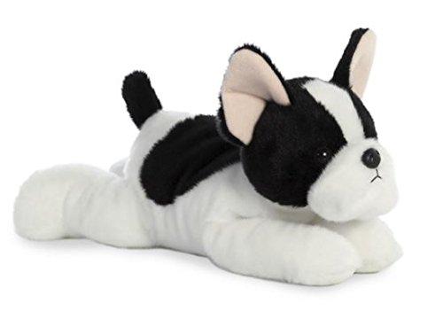 Aurora, 31574, Flopsies Bulldog francés, Juguete Suave, 30 cm, Blanco y Negro