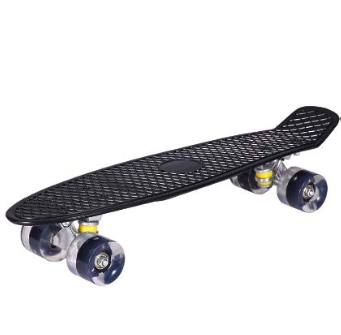 マンモススプレー映画KSS LED内蔵 スケートボード ミニクルーザー コンプリートセット (ブラック)