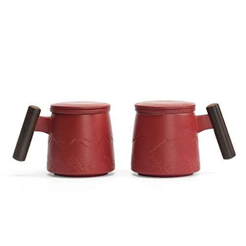 WHL Un par de Tazas de Regalo para la Novia y Amigos, cumpleaños y Regalos de Boda. (Color : Red A Pair)