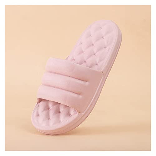 JinHongShop Mute eva sofá Diapositivas Mujeres Gruesa Suela Suave Interior Zapatillas Mujeres Antideslizantes Sandalias Hombres Plataforma de Verano Zapatos de Mujer baño HHQIYUAN