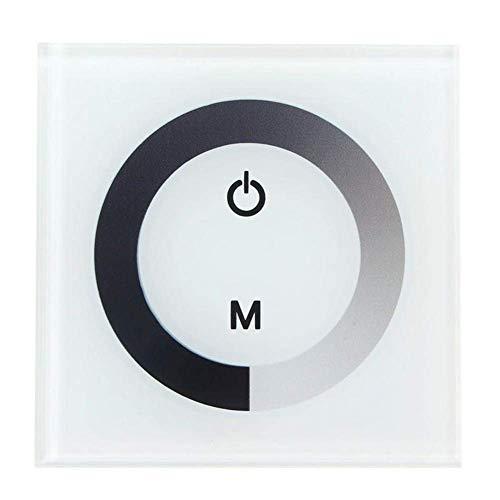 WEI-LUONG Controlador de Interruptor de Pared Dimmer de Panel táctil de Solo Color DC12V 24V para Accesorios de iluminación de Tira de luz LED