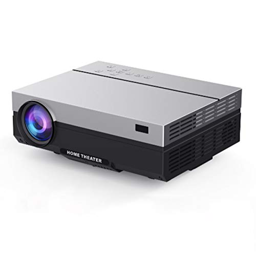 CMM Projektor-HD, 5500 Lumen 1080P LED Full-HD-Video-Beamer mit Fernbedienung, Heimkino-System Media Player, LED Micro Filmprojektor USB, HDMI, VGA, 3,5 mm Audio-und AV