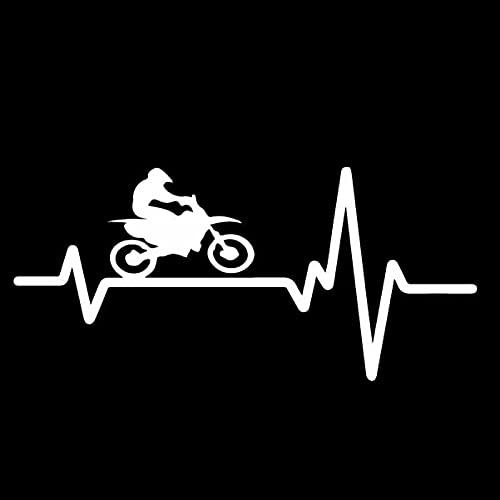 Bonitos pegatinas 15. 2CMX7CM Paseo delicado más fresco Una bicicleta Electrocardiograma viny calcomanía bonita etiqueta engomada del coche Sticker de carro (Color Name : Silver)