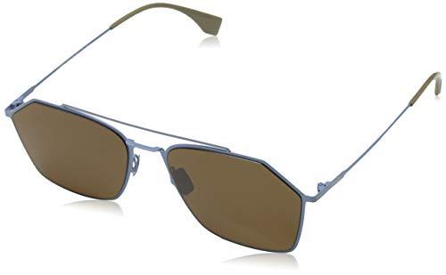 Fendi zonnebril FF M0022/S MVU/70 groot zonnebril 56, blauw