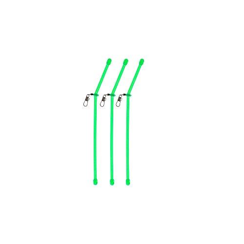 Anti Tangle Boom mit Wirbel Casting booms Abstandhalter Durchlauf Röhrchen Angel Zubehör feedern feederangeln (grün - 05 cm)