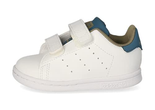 adidas Stan Smith CF I, Zapatillas Deportivas Unisex niños, FTWR White FTWR White Orbit Indigo, 20 EU