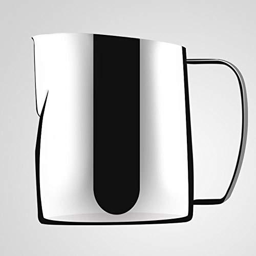 Oblique Roestvrij Staal Trek Bloem Cup Verdikte 350 Ml Tip Melk Schuim Cup Melk Cilinder Fancy Melk Cup Koffie Apparaat 400 ml.