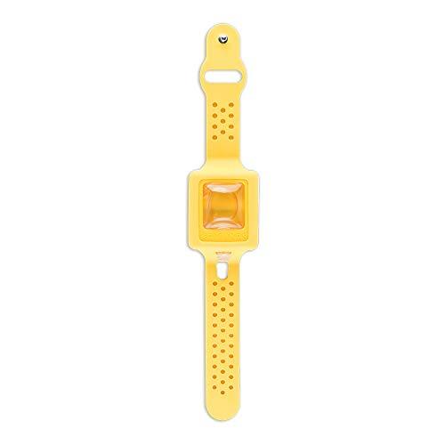 Cleans - Desinfektionsarmband, Armband mit Desinfektionsmittel wiederaufladbar, Spender für Handdesinfektion – Gelb