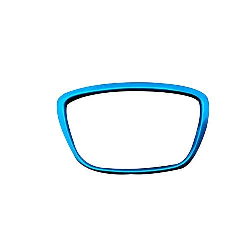 FangFang Car Steering Wheel Center Emblem Logo Trim Ring Fit For Audi A3 A4L A6L A8 Q3 Q5 Q7 Steering Wheel Aluminum Cover Accessories (Color Name : Blue)
