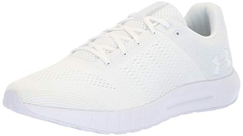 Under Armour Herren UA Micro G Pursuit flexible und gepolsterte Sportschuhe für schnelle Läufe, atmungsaktive Joggingschuhe, Weiß White 112, 42.5 EU