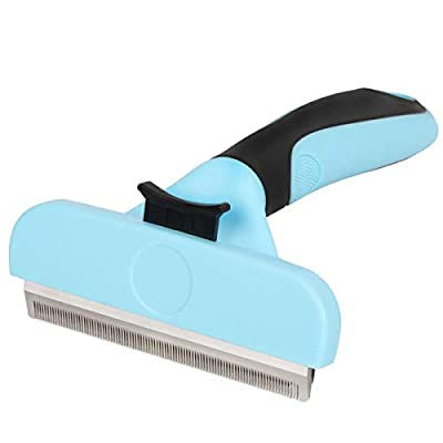 Samply Dog Shedding Brush Large- Pets Deshedding Tools for Long& Short Haired Dogs and Cats from Samply