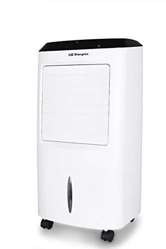 Orbegozo AIR 52 Climatizador evaporativo 3 en 1, 3 velocidades, temporizador, mando a distancia, acumuladores de frío, depósito de 10 l, 65 W