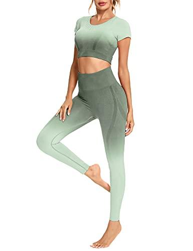 Sykooria Completi da Allenamento Donna 2 Pezzi,Donna Yoga Suit,Set...