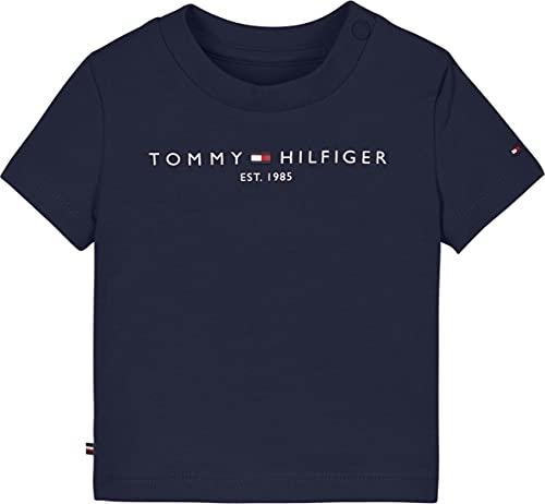 Tommy Hilfiger Baby-Jungen Essential Tee S/S Hemd, Marineblau (Twilight Navy), 3 Months