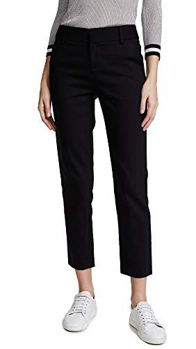 Alice + Olivia Women's Stacey Slim Pants, Black, 2