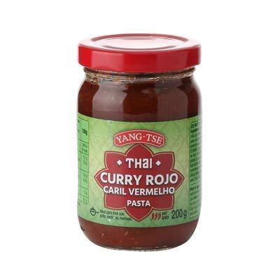 Yang-Tse - Salsa de Curry Rojo - Thai - Idea para Freir con Pollo, Verudras y Mariscos - Salsas Picantes 200 Gramos