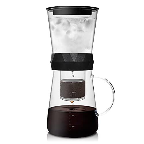 EYCIEROT Fría Brew Coffee Pot Cafetera de Goteo de Hielo Máquina de café de Goteo frío Cafetera de Gran Capacidad Filtro de Acero Inoxidable Viajes de la casa