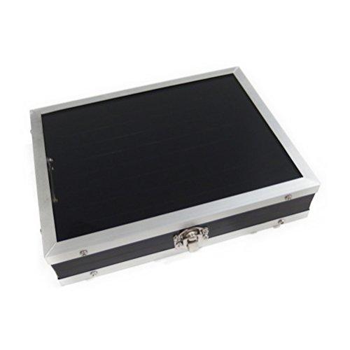 S シルバー カフスボタン ネクタイピン 指輪 収納ケース ガラスケース コレクションボックス メンズ 男性用