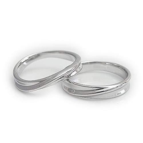[ココカル]cococaru ペアリング シルバー リング2本セット マリッジリング 結婚指輪 日本製 (レディースサイズ19号 メンズサイズ1号)