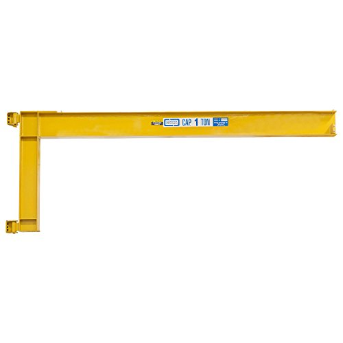 Best Bargain Contrx Wall-Mount Full Cantilever Jib Crane, 4000 Lb. Capacity, 8' Span, Wide-Flange Be...