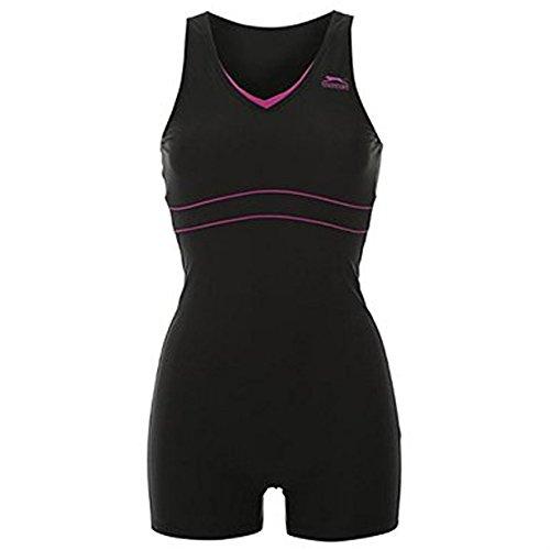 Slazenger Schwimmanzug Badeanzug mit Bein XXXXXXXL (54 / UK28) Schwarz/Pink