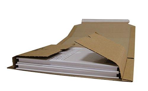 Universal Wickelverpackungen aus Mikro-Wellpappe Karton Gr. 302x215x20-75mm (PS.305) (25)
