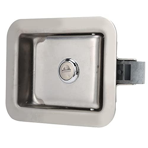 Cerradura de puerta de camión, cerradura de panel de grupo electrógeno cerradura de puerta de remolque cuadrada con 2 llaves cuadradas para caja de herramientas armario eléctrico