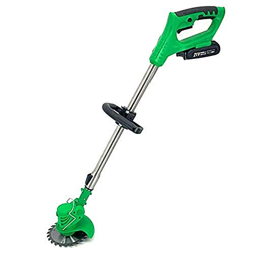 ECUTEE Portable Electric Cordless String Trimmer & Wheeled Edger, Handheld Trimmer, Grass Shear Electric, Lawn Trimmer, Garden Mower, Trimmer Cutter, Perfect for Leaves & Debris ,21V