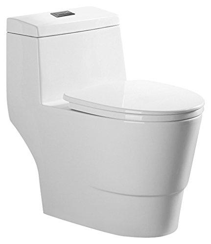 WOODBRIDGE T-0005 Cotton toilet | Elongated One Piece, Dual Flush, Soft Closing Seat, High-Efficiency