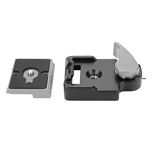 Placa de liberação rápida, placa de liga de alumínio, placa de liberação rápida para câmera DSLR, tripé e cabeça esférica