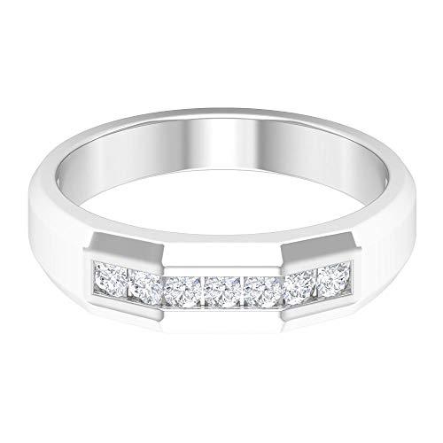Rosec Jewels 14 quilates oro blanco redonda H-I Diamond