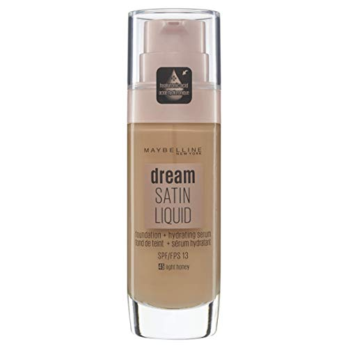 Maybelline New York Dream Radiant Liquid - Base de Maquillaje Líquida con Sérum Hidratante, Tono 045 Miel