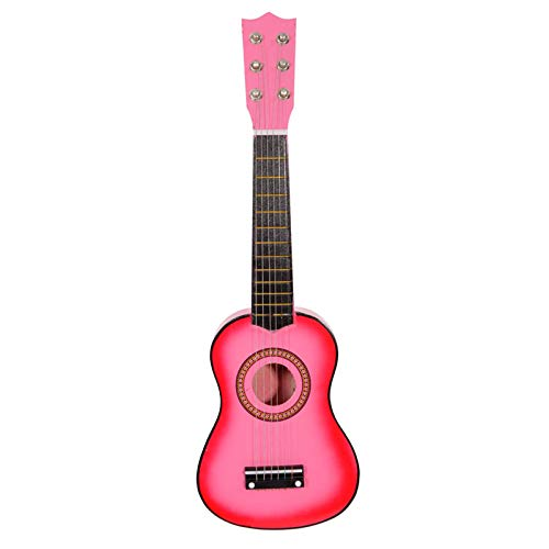 Festnight 21 Inch Acoustic Guitar with Guitar Plectrum and String Wood Cutaway Guitar for Beginner/Kids/Boys/Girls/Junior/Adult/Children/Youth Pink