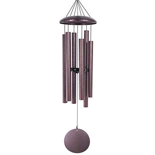 ASTARIN Wind Chimes Deep Tone 36 Inch Large Metal Wind Chimes Outdoor Large Deep Tone with 6 Metal Tubes Deliver Soft Melody Tuned Wind Chimes for Garden Balcony Patio and Home Décor Bronze