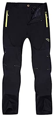 Singbring Women's Outdoor Lightweight Quick Dry Waterproof Hiking Mountain Pants Large Black(01B)