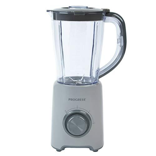 Progress, Grey EK3627PGRY Krug Mixer mit 2 Geschwindigkeitsstufen und Pulsfunktion | Ideal für Suppen, Smoothies & Saucen | 1,5 L | 450 W | Glas