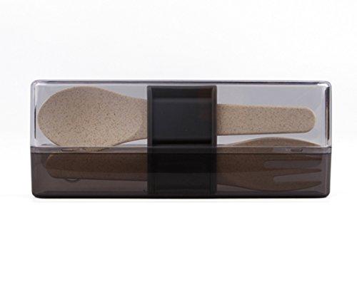 Minimal Natural Fiber Bento Boxes, Natural Color (2pc - Travel Cutlery Set)