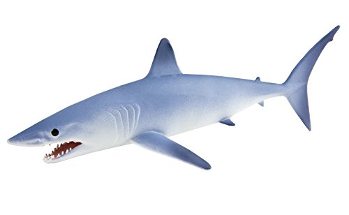 Safari Ltd Mako Shark  Realistic Hand Painted Toy Figurine Model  Quality Construction from Phthalate Lead and BPA Free Materials  for Ages 3 and Up