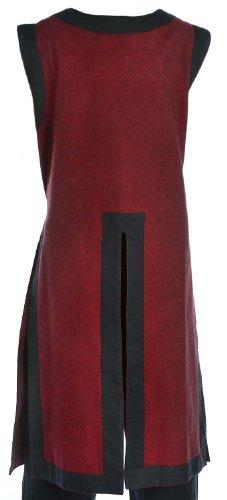 HEMAD Surcoat medioevale dei bambini - Tabard del cotone del cavaliere - Rosso Con Fodera Nera
