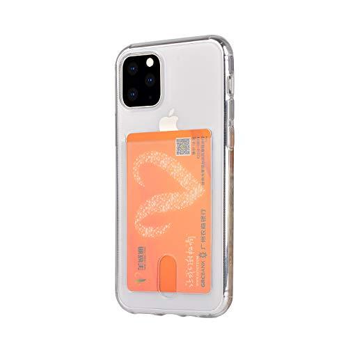 Wormcase ® Kunststoffhülle mit Kartenfach kompatibel für das Appel iPhone 11 Pro - Transparent - TPU Schale Back-Cover Schutz-Tasche Kratzfest Stoßfest Bumper Crystal-Clear dünn leicht schmal