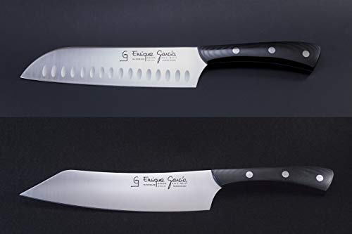 GC Enrique García Set Juego de Cuchillos Profesional Japoneses Kiritsuke y Santoku