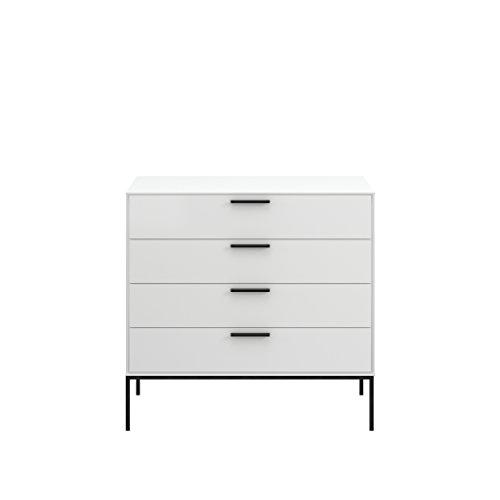 Steens Kommode Slimline, Schrank, Sideboard mit 4 Schubladen, (B/H/T) 90 x 87 x 40 cm, MDF, Weiß