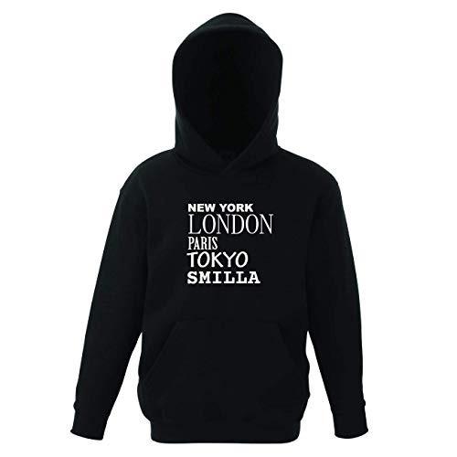 JOllify SMILLA Kinder Pullover Pulli Hoodie - Design: New York, London, Paris, Tokyo - Größe: 164-14-15 Jahre