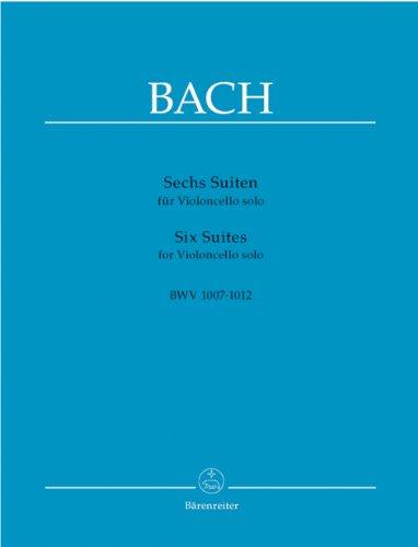 Sechs Suiten für Violoncello solo BWV 1007-1012. Spielpartitur