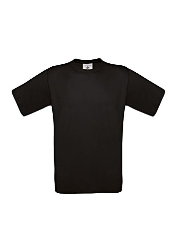 10 B&C T-Shirts Exact 190 kurzarm T-Shirt S-3XL in verschiedenen Farben BCTU004 3X-Large,Black