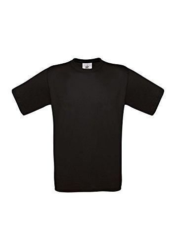 10 B&C T-Shirts Exact 190 kurzarm T-Shirt S-3XL in verschiedenen Farben BCTU004 X-Large,Black