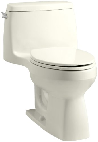 KOHLER 3810-96 Santa Rosa Comfort Height Elongated 1.28 GPF Toilet with AquaPiston Flush Technology and Left-Hand Trip Lever, Biscuit