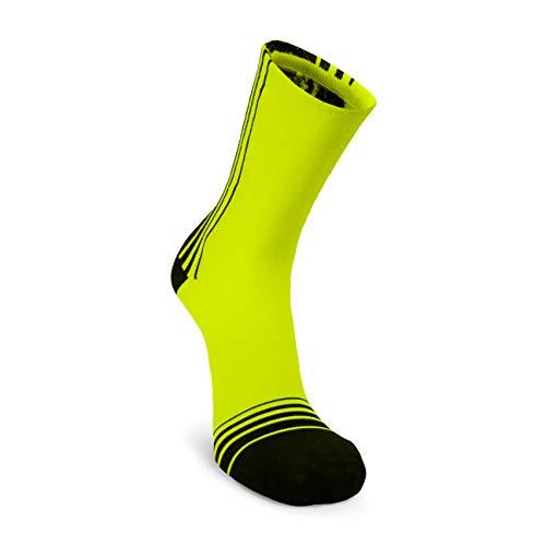 Nordhorn DUATHLON Laufsocken für Herren & Damen, Quarter Fahrradsocken, Sneaker Socken Atmungsaktiv zum Laufen, Joggen, Radfahren (Gelb, 37-41)