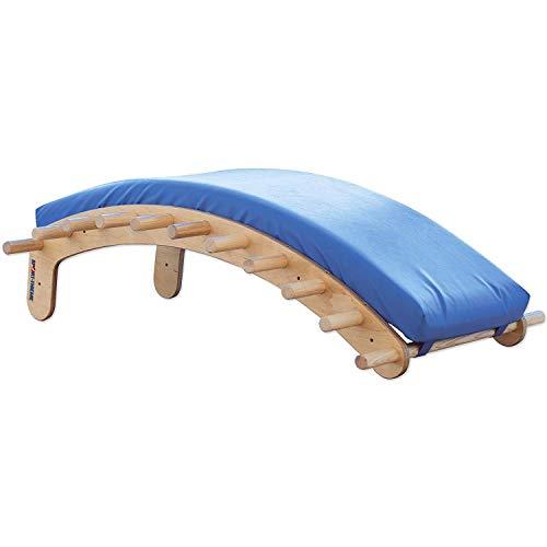 Sport-Thieme Rückentrainer Edgar | Wirbelsäulen-, Rumpf- u. Rückenstrecker-Bank | Birkenschichtholz + Auflagematte mit Polygrip-Bezug | Bis 200 kg belastbar | 125x73x46 cm | 13 kg